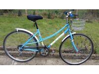 "LADIES WOMEN ADULTS UNIVARSAL 700c HYBRID TYRE 18"" FRAME 8 SPEED BIKE BICYCLE"