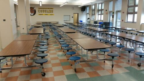 CLOSEOUT SURPLUS CAFETERIA lunchroom TABLES  - 12 FOR ONLY  1500. obo. CAN SHIP!