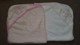 Pink newborn towels