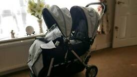Safety 1st double pushchair, black/silver