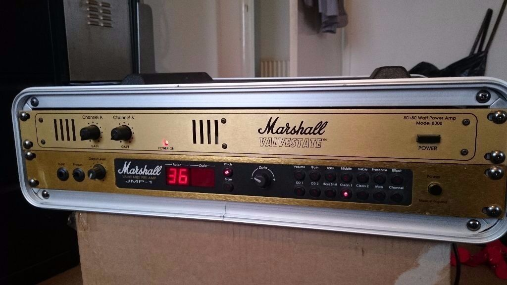 marshall valvestate 8008 guitar rack power amp in. Black Bedroom Furniture Sets. Home Design Ideas
