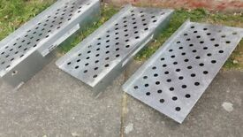 3 x Ikea redd metal floating shoe rack
