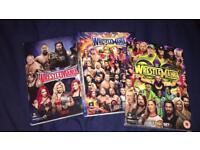 3 sets of wrestlemania DVDs