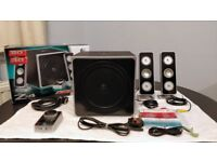 Logitech Z4 2.1 PC Speakers system. Complete In Box, PARTIALLY WORKING / FOR PARTS. Collection only.