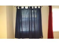 Pair of cotton curtains