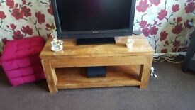Solid Wood Chunky Coffee table with shelf