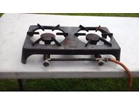 2 RING LPG GAS BURNER, FOKER ITALY, GOOD CONDITION WORKS WELL