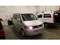 2007 vw t5 campervan motorhome 4 berth silver pop top