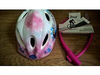 Disney frozen helmet plus free silicone bicycle lock. Brand new helmet with pink