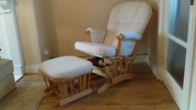 Mamas & Papas Glider/Rocking Chair & footstool