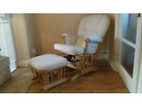 Mamas & Papas Glider/Rocking Chair & footstool