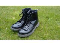 Kids Black Doc Martin Boots (size2)
