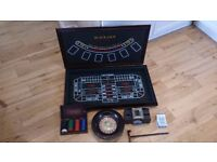 Roulette Wheel Gaming Table and Card Shuffler.