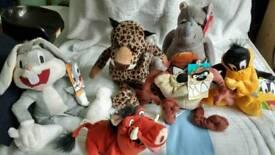 Selection of 6 kids beanie toys, BNWT