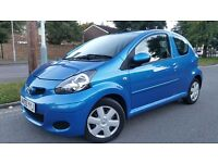 Toyota Aygo Blue 2009, 1.0 L, 3 Door, 1 Former Keeper, Road Tax £20 For The Year, Very Cheap to Run