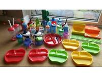 Baby/toddler bottles cups plates ect
