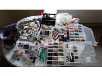 Jewellery making bead crystal gemstone acrylics chain tools boxes findings starter kit stone