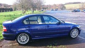 2002 02 BMW 330i Sport Saloon Automatic in Individual Metallic Velvet Blue, 80.7K miles & FSH
