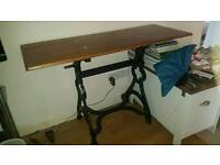 Table. Refurbished sewing desk. Was used as antique looking tv stand.