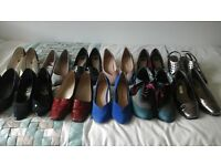 several pairs of ladies shoes size 5