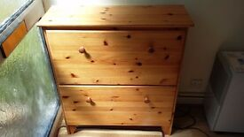 Solid pine shoe cabinet