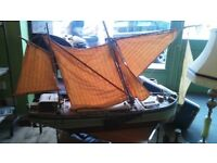DUTCH HANDMADE WOODEN BOAT