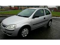 Vauxhall Corsa 1.0 3dr in silver. 12 Month MOT. Full service history. punto fiesta clio jazz astra