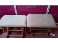 2 rocking footstools