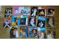 85 x elvis books , annuals , badges , magazines