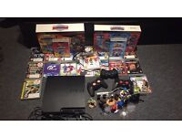 160GB Slim PS3 mega bundle +19 games + 3 controllers