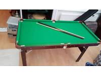 Pool table with 2 cues