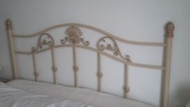 Double divan and matress with attractive headboard all great quality, spacious drawers.