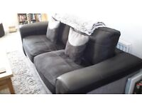 3 seater sofa and swivel chair.