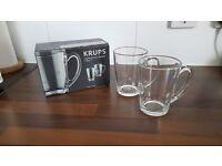 New Krups glass cappucino mugs