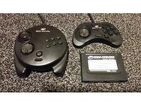 Sega Saturn - Memory Card & Two Controllers