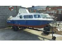 16ft micro plus explorer 501 on trailer two outboards