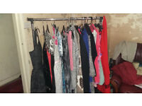 Mixed lot ladies and kids clothes plus bags shoes mix sizes