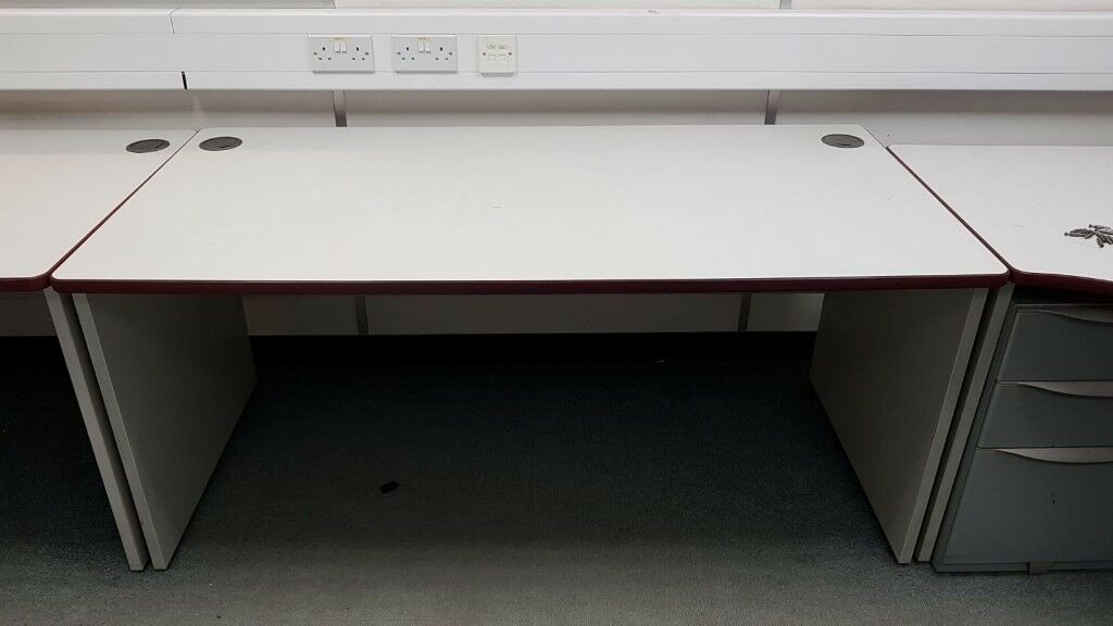 Large Grey Office Desk