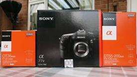 NEW Sony A77ii Camera with 35mm 1.8 and 55-200mm Lenses