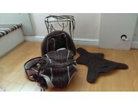 Mothercare dark brown Baby Carrier 3.5-10kgs with Accessories