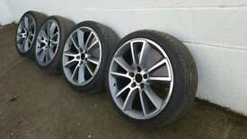 "Vauxhall vxr 19"" alloys and tyres"