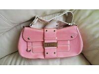Amazing authentic vintage bag / hendbag leather pink - CHRISTIAN DIOR