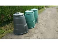 Compost Bins x 3