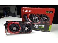 GTX 1070 Graphics Card MSI Gaming X