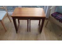 McIntosh Nest of Tables With Swivel/Flip Extending Top on Castors
