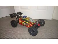 BRAND NEW!!!! HIMOTO 1:8 SCALE 4WD OFF-ROAD BUGGY - (FIRESTORM) RED - NITRO/PETROL RC CAR