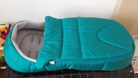 Mamas and Papas Newborn Cocoon (Teal colour) for sale