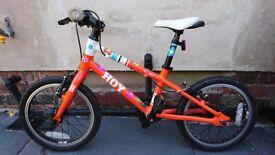 HOY Bonaly Orange & White 16 Inch 2014 Kids / Childrens Bike