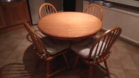 Kitchen table & 4 CHAIRS WITH CUSHIONS