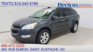 2010 CHEVROLET TRAVERSE LT TOÎT OUVRANT SKYSCAPE, DVD, BLUETOOTH